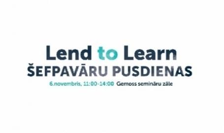Lend to Learn šefpavāru pusdienas 6. novembrī